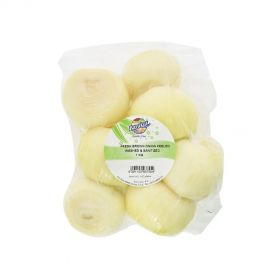 Brown onion peeled washed & sanitized 1kg