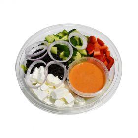 Fetta Olive Salad with Tomato Dressing