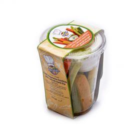 Vegetable Crudités With Labneh Herb Dip 300g