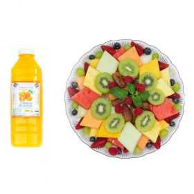 Fruit Platter Exotic & 1L Orange Juice 1PIECE