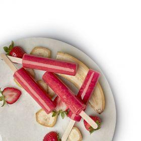 Strawberry Banana Juice Pops