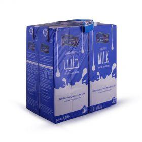 Al Rawabi Full Cream Long life milk 4x1Ltr