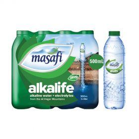 Masafi Alkalife Alkaline Water 500ml x Pack of 12