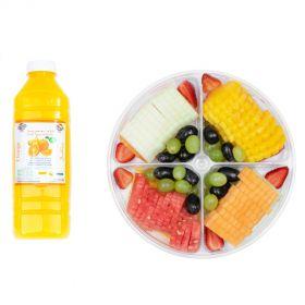 Fruit Slices with Strawberries with 1L Orange Juice 1PIECE