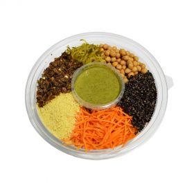 Mediterranean Salad With Cous Cous & Oregano Dressing
