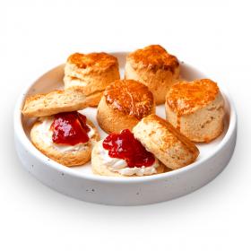 Plain Scones with Clotted Cream & Jam